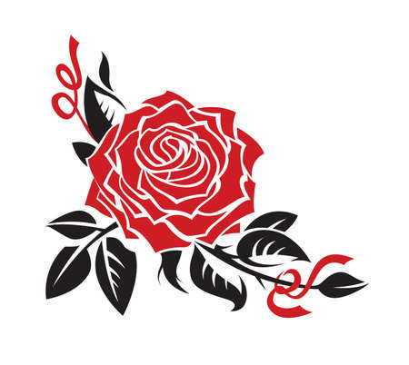 rose tattoo: vector graphic of rose