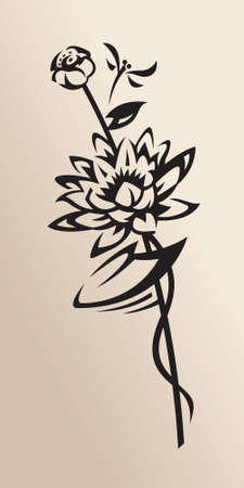 nenuphar: water lily Illustration