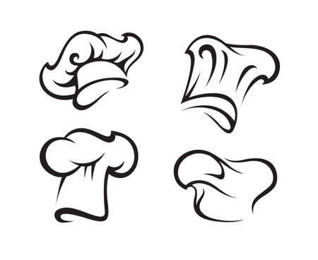 chef cooking: set of chef hats Illustration