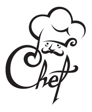 cartoon chef: chef icon
