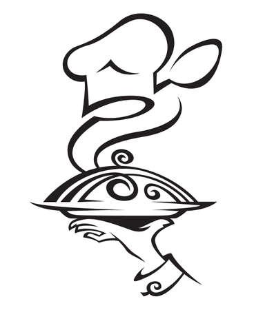 gorro chef: Chef sombrero de plato