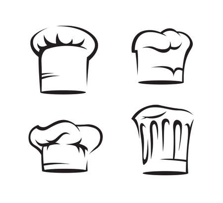 gourmet cooks: set of chef hats Illustration