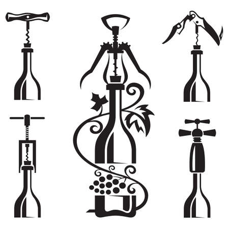 bottles collection  Vector