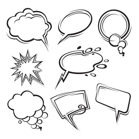 thought bubble: speech bubbles collection Illustration