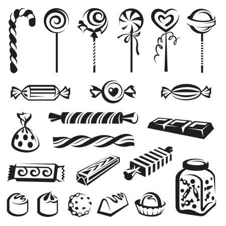 canne a sucre: bonbons mis Illustration