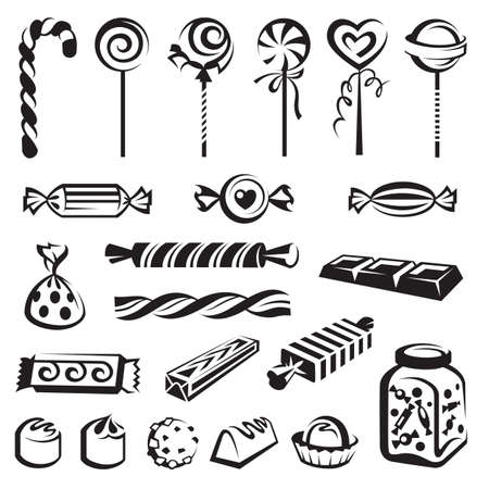 candy cane: candies set Illustration