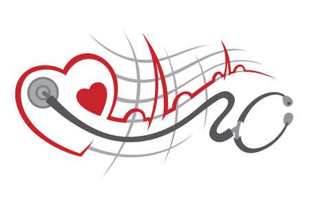 estetoscopio corazon: electrocardiograma
