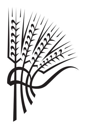 rice harvest: wheat Illustration