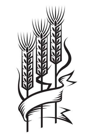 grain fields: wheat Illustration