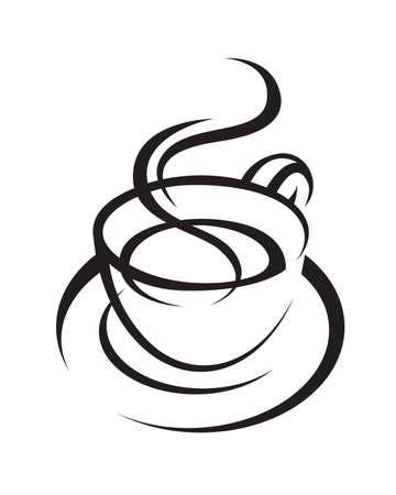 chicchi di caff�: tazza di caff�