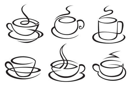 cup and saucer: coffee cups Illustration