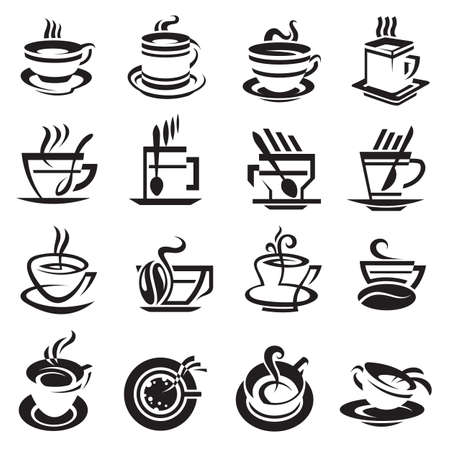brewed: coffee cups Illustration