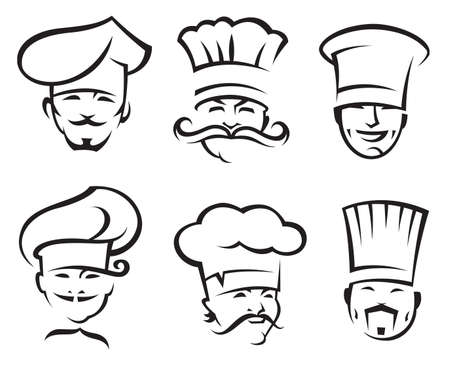 chef cartoon: chefs set