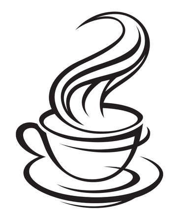 cup and saucer: cup of coffee Illustration