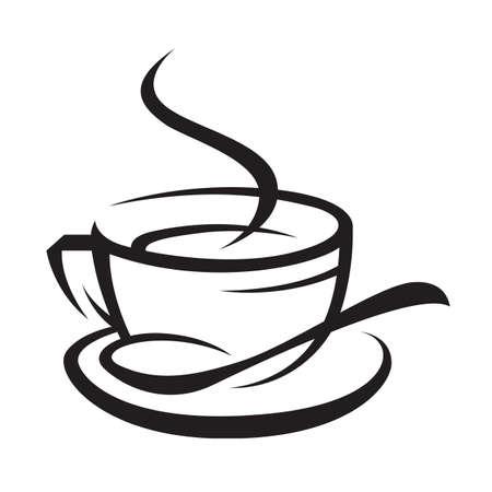 커피 한잔 일러스트