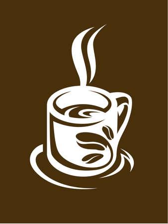 cappuccino: tasse de caf� abstraite et soucoupe