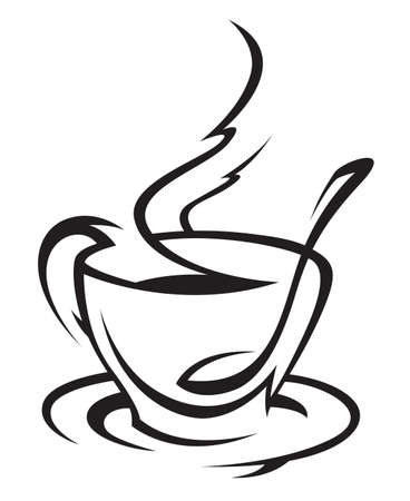 pause icon: coffee cup Illustration