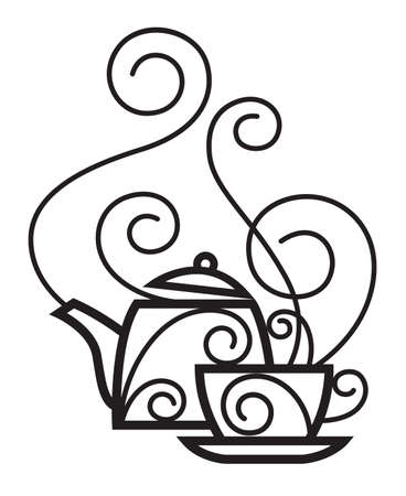 cup and kettle Stock Vector - 11650233