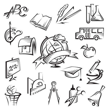 stationary set: education icon set