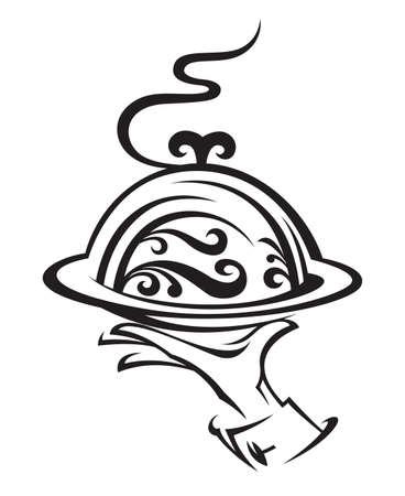 chef illustration: restaurant icon