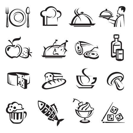 eet-en drinkwaren Vector Illustratie
