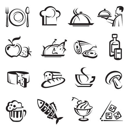 plate of food: food icons