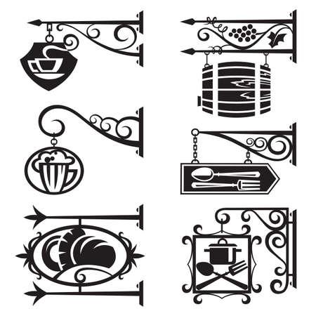 bread shop: segni di alimenti e bevande