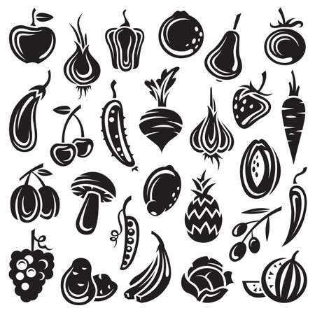 summer vegetable: fruits and vegetables Illustration