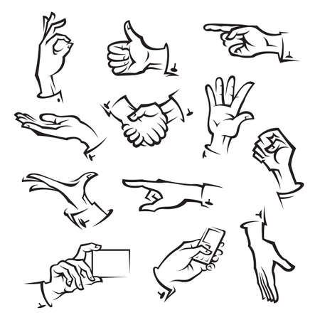 pointing hand: hands   Illustration