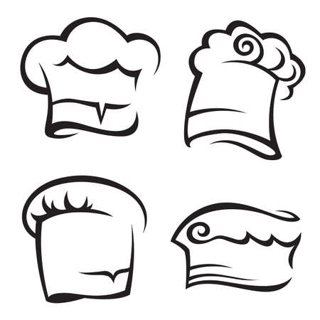set of chef hats Vector