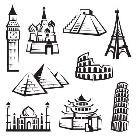 kremlin: set of landmarks Illustration