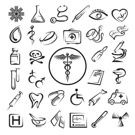 logo medicina: Iconos m�dicos establecidos