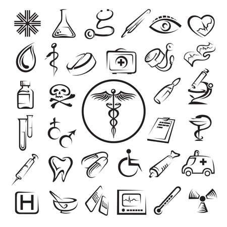 medizin logo: medizinische Symbole gesetzt