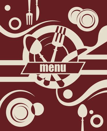 kitchen ware: restaurant menu design Illustration