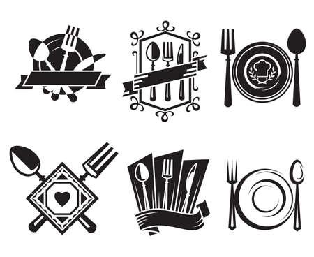hambriento: iconos restaurante