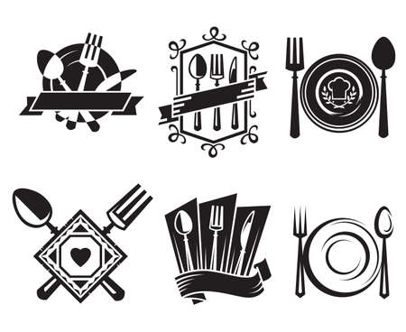 restaurant icons Stock Vector - 11650112
