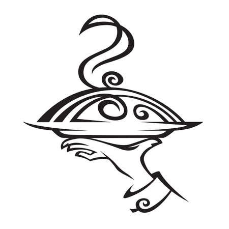 bandejas: restaurante icono