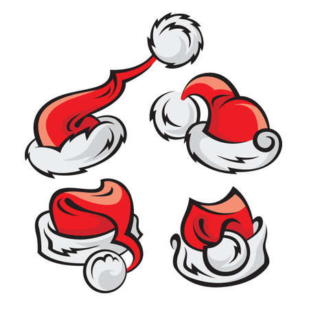 party outfit: santa hats set Illustration