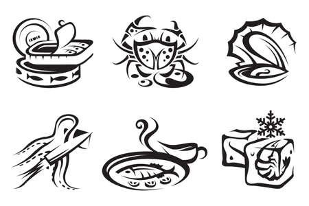 seafood  イラスト・ベクター素材