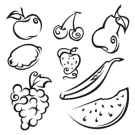 poires: fruits et de baies