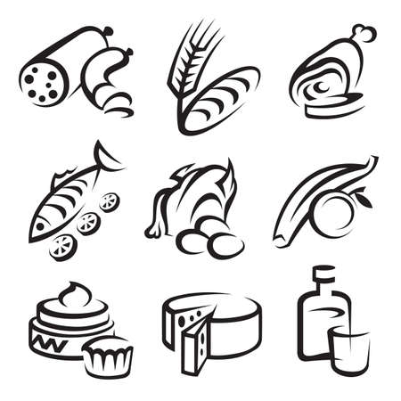 food icons Stock Vector - 11650108