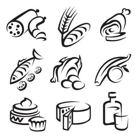 logo de comida: los iconos de los alimentos