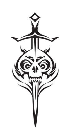 skull and sword Stock Vector - 11650120