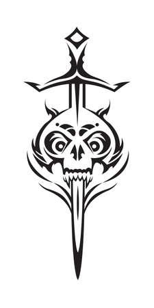 skull and sword Stock Vector - 11650120