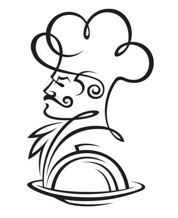 chef hat: dish and cook Illustration