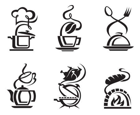 icon set meal Vector