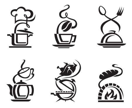 ustensiles de cuisine: repas de jeu d'ic�nes