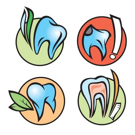 dental icons Stock Vector - 11650126