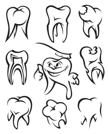 smile  teeth: teeth Illustration