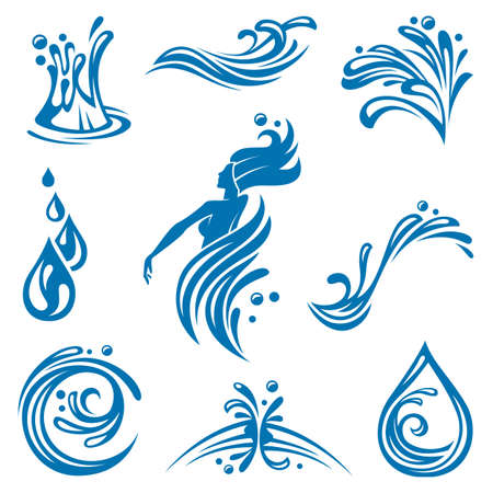 water icons Stock Vector - 11648987